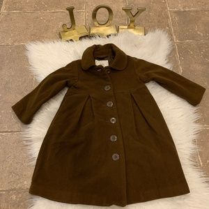 Baby Gap Brown Swing Jacket / Pea Coat Toddler 3Y